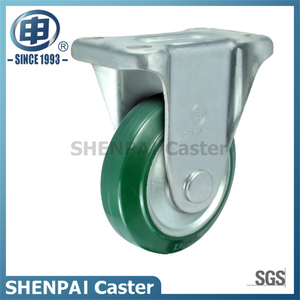 "8"" Steel Core Rubber Rigid Caster Wheel"