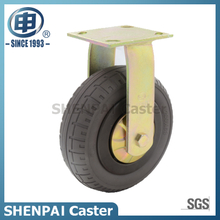 "8""Rubber Elasticity Foam Rigid Caster Wheel"