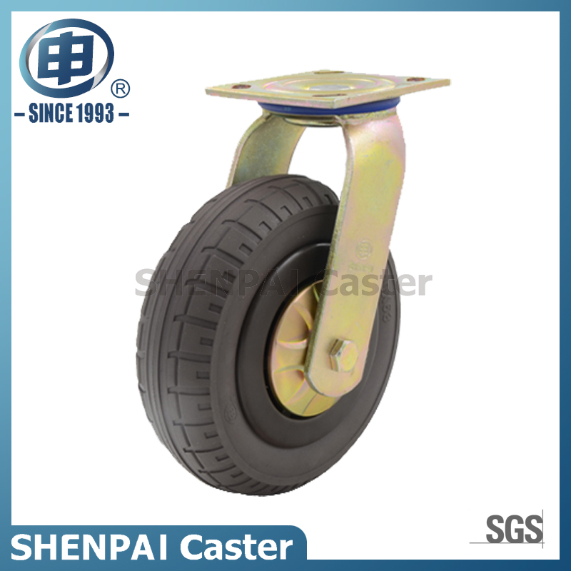 "6""Rubber Elasticity Foam Swivel Caster Wheel"