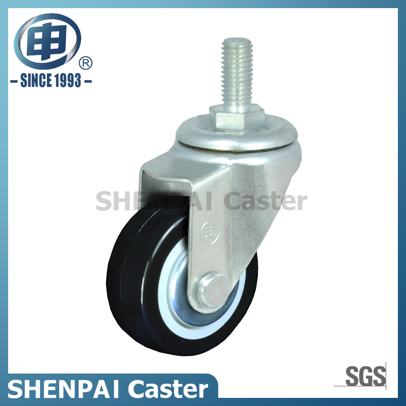 "2.5""Light Duty Black Nylon Swivel Caster Wheel"