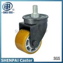 2.5Inch Aluminium Core PU Threaded Stem Swivel Caster