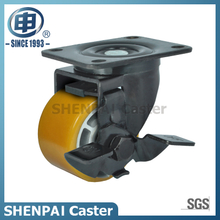 3 Inch Aluminium Core PU Swivel Caster with Brake