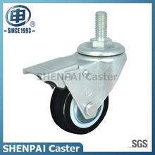 "2.5""Nylon Threaded Stem Swivel Locking Caster Wheel"