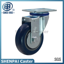 "3"" Blue Polythene Swivel Caster Wheel"