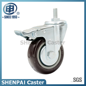"5"" Nylon Threaded Stem Swivel Locking Caster Wheel"