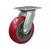 "8"" Red PU Swivel Caster Wheel"