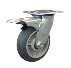 TPR Swivel with brake Caster Wheel for Heavy Duty 5""