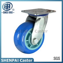 "4""Stainless Steel Bracket Swivel PU Caster Wheel"